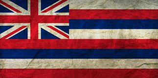 Hawaii Flag on Paper. Flag on an old Paper Texture Stock Images