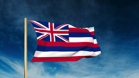 Hawaii flag slider style. Waving in the win with stock footage