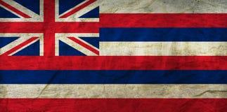 Hawaii flagga på papper royaltyfri illustrationer