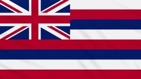 Hawaii-Flagge flattert im Wind, Schleife für Hintergrund vektor abbildung