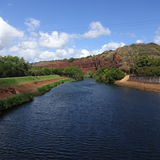 Hawaii flod Royaltyfria Bilder