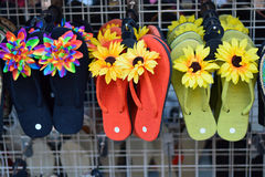 Hawaii Floral Slippers Stock Photography
