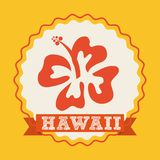 Hawaii flower design Royalty Free Stock Images
