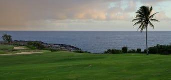 Hawaii Golf. Golf course on Hawaii coast Stock Photo
