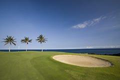 Hawaii Golf Course. Big Island Golf Course on Lava Ocean Shore of Kona, Hawaii royalty free stock photos