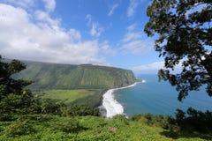 Hawaii Hamakua kust Arkivfoto