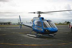 Hawaii - Helicopter tours. Hawaii - Image of Blue Hawaiian Helicopter tours ready for take off Stock Photography