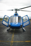 Hawaii - Helicopter tours. Hawaii - Image of Blue Hawaiian Helicopter tours ready for take off Royalty Free Stock Images