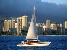 hawaii honolulu skyskrapor Arkivbilder