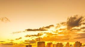 Hawaii hot sunset sky stock video