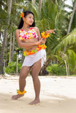 Hawaii Hula dancer on the beach Royalty Free Stock Photography