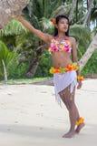 Hawaii Hula dancer on the beach Stock Images