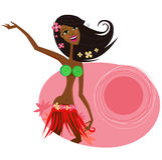 Hawaii hula girl dancer Royalty Free Stock Images