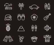 Hawaii icons Stock Photos