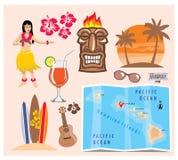 Hawaii-Ikonensatz Lizenzfreies Stockbild