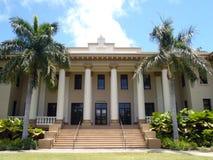 Hawaii instämmer på högskolauniversitetsområde Arkivbild