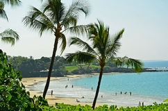 Hawaii, isla grande Mauna Kea Beach Fotografía de archivo