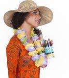 Hawaii Island Beach Girl Stock Image