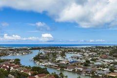 Hawaii Kai and Maunalua Bay 1. View of beautiful Hawaii Kai and Manualua Bay royalty free stock image