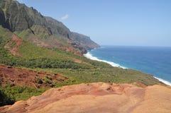 hawaii kalalau Kauai ślad Obrazy Stock