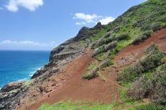 hawaii kalalaukauai trail arkivfoton
