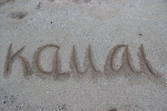 hawaii kauai Arkivbild