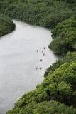 hawaii kauai kajaker Fotografering för Bildbyråer