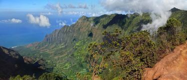 The View from Pu'u O Kila Lookout royalty free stock photo