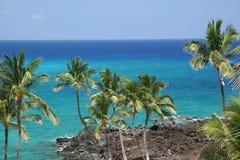 Hawaii Kona Beach. Azure Hawaiian Snorkeling Beach on Kona Island Royalty Free Stock Images
