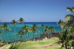 Hawaii Kona Beach. Azure Hawaiian Snorkeling Beach on Kona Island Stock Photo