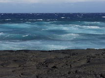 Hawaii Lava Ocean Shot royalty free stock image