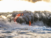 Hawaii-Lavaeruption stockbilder