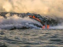 Hawaii-Lavaeruption stockfotografie