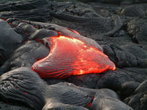 Hawaii-Lavafluß stockfoto