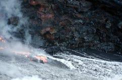 Hawaii lawy przepływu kilauea wulkan Obraz Stock