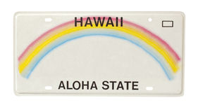 Hawaii license plate Royalty Free Stock Photography