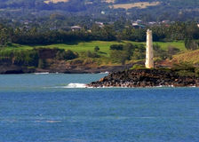 Hawaii lighthouse. A lighthouse on the shore in Hawaii royalty free stock photos