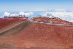 Hawaii, Mauna Kea. Mauna Kea observatory, Big Island, Hawaii royalty free stock photography