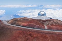 Hawaii, Mauna Kea. Mauna Kea observatory, Big Island, Hawaii royalty free stock images
