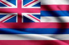Hawaii flag illustration stock illustration