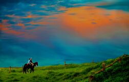 Free Hawaii North Coast Ranchlands Sun Breaking Through Cloudy Skies. Royalty Free Stock Image - 175459826