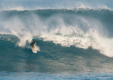 Hawaii North Shore surfing Stock Photography
