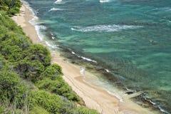 Hawaii Oahu hanauma bay view Royalty Free Stock Image