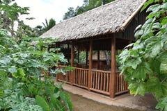 A Polynesian hut. Hawaii, Oahu Island Stock Images