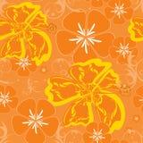 Hawaii orange pattern vector illustration