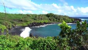 Hawaii Overlook of Ocean. Maui Hawaii Overlook of Ocean stock footage