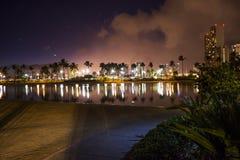 Hawaii på natten arkivbild