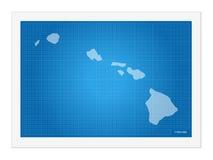Hawaii på ritning stock illustrationer