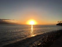 Sunset Hawaii stock photography