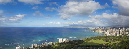 Hawaii panoramic view Royalty Free Stock Photos